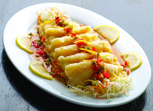lemon fish New Dish on Super Bowl of China!