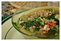 PECHAY 3 Pechay with Ground Pork Vegetable Soup Recipe