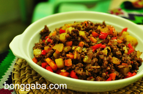 Giniling Gisado with bell peppers Ginisang Giniling or Ground Beef with Bell Pepper Recipe