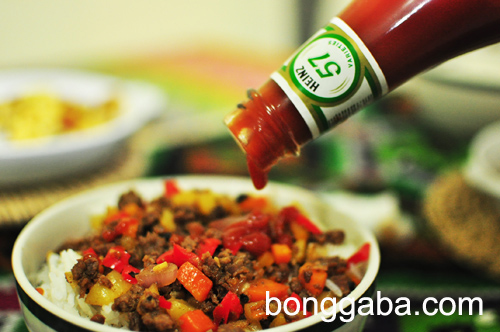 Heinz Ketchup Ginisang Giniling or Ground Beef with Bell Pepper Recipe