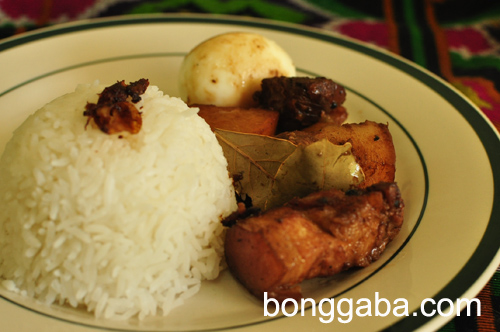Pork Adobo Plated Pork Adobo Recipe