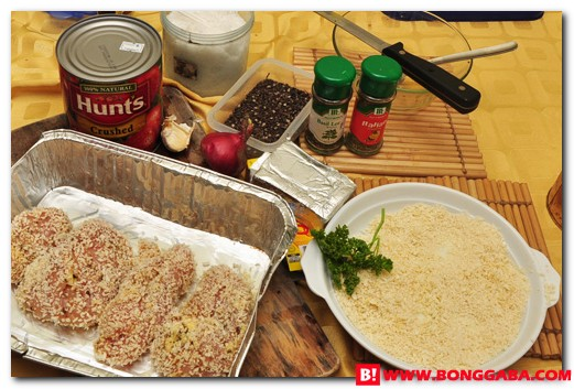 Chicken Parmigiana Ingredients b