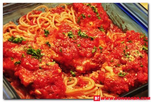 Chicken Parmigiana Pasta b