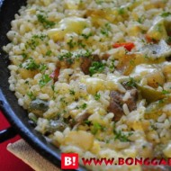 Recipe of Paella De Cordero of Chef Miguel de Alba of Alba Ristorante Espanol